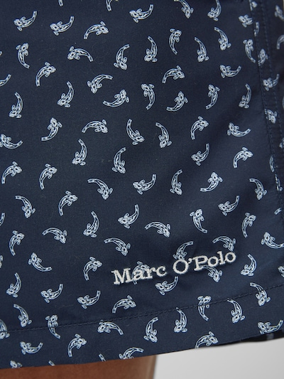 Marc O'Polo Zwemshorts 'Printed Beach' in de kleur Navy, Productweergave