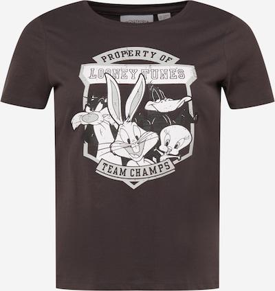 ONLY Carmakoma Camiseta 'CARLOONEY' en gris / negro / blanco, Vista del producto