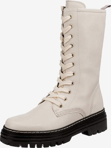 GABOR Lace-Up Boots in White
