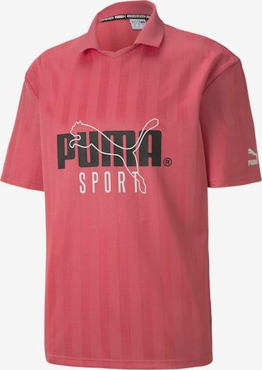 PUMA Poloshirt in pink / schwarz / weiß, Produktansicht