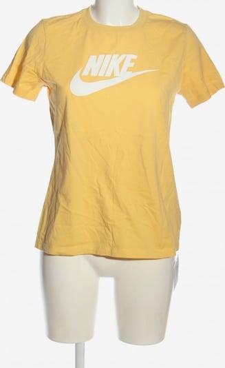NIKE Print-Shirt in M in pastellgelb / weiß, Produktansicht