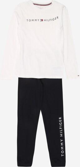 TOMMY HILFIGER Pižama | črna / bela barva, Prikaz izdelka