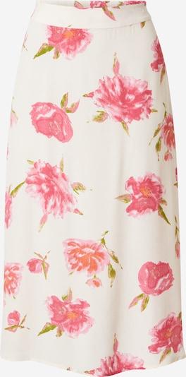 PIECES Jupe 'TIANNA' en vert / rose / rose clair / blanc naturel, Vue avec produit
