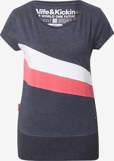 Alife and Kickin T-shirt en marine / rosé / blanc, Vue avec produit