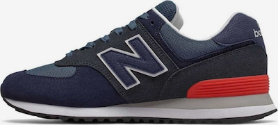 new balance Sneaker in blau / rot: Frontalansicht