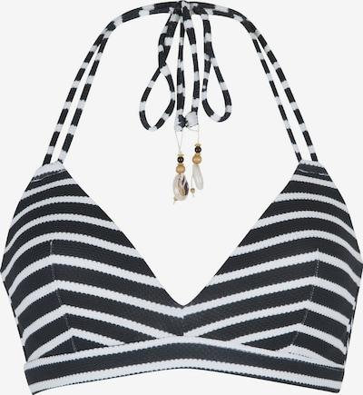LingaDore Bikinitop in schwarz / weiß, Produktansicht