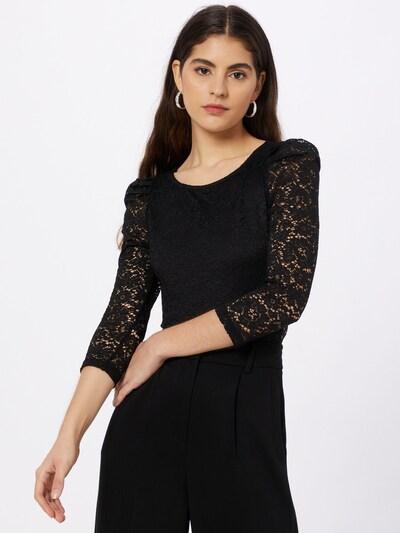 NAF NAF Bodi bluza 'HYACINTHE' u crna, Prikaz modela