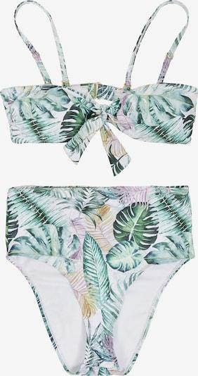 Urban Classics Bikini in gelb / grün / pink / weiß, Produktansicht