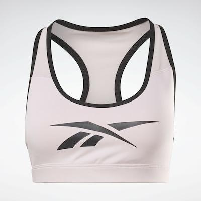 Reebok Sport Soutien-gorge de sport en rose pastel / noir, Vue avec produit