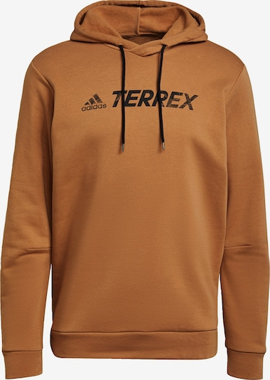 ADIDAS PERFORMANCE Sportief sweatshirt in de kleur Karamel / Zwart, Productweergave