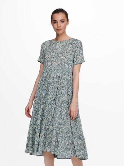 ONLY Obleka 'Abigail' | bež / svetlo modra / temno modra / zelena barva, Prikaz modela