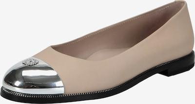 Ekonika Ballerinas im klassischen Design in beige / silber, Produktansicht