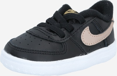Nike Sportswear Tennarit 'Force 1 Crib' värissä kulta / puuteri / musta, Tuotenäkymä