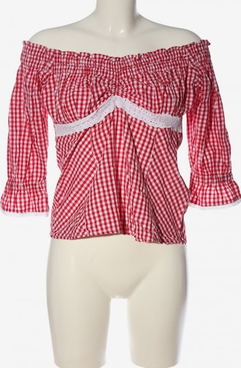 MARJO Langarm-Bluse in XXL in rot / weiß, Produktansicht