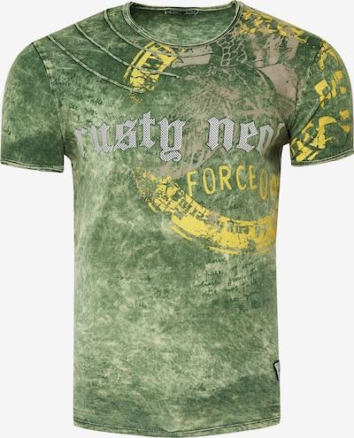 Rusty Neal T-Shirt mit zeitlosem Print in khaki: Frontalansicht