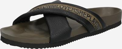 REPLAY Zapatos abiertos 'BAKEN' en caqui / negro, Vista del producto