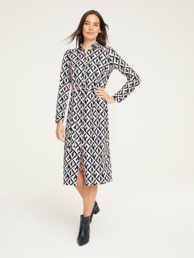 heine Kleid in blau / pink / schwarz: Frontalansicht