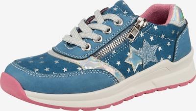 Be Mega Sneaker in rauchblau / altrosa / silber, Produktansicht