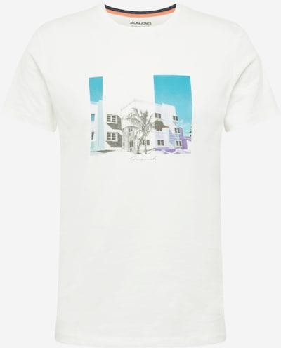 JACK & JONES T-Shirt 'HALFO' in blau / graumeliert / oliv / helllila / offwhite, Produktansicht