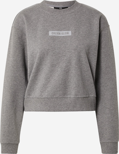 Calvin Klein Performance Sweat de sport en gris chiné / blanc, Vue avec produit