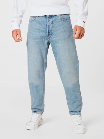 WEEKDAY Jeans 'Barrel Pen' in blue denim, Modelansicht