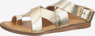 INUOVO Sandale in beige / gold, Produktansicht
