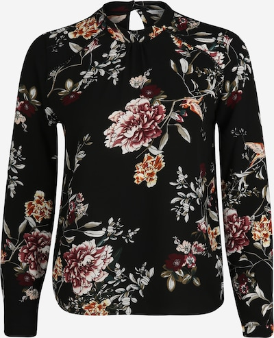 Only (Petite) Bluse in pink / schwarz, Produktansicht