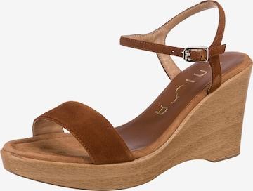 UNISA Sandalette 'Rita' in Braun