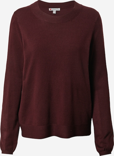 STREET ONE Pullover in dunkelrot, Produktansicht