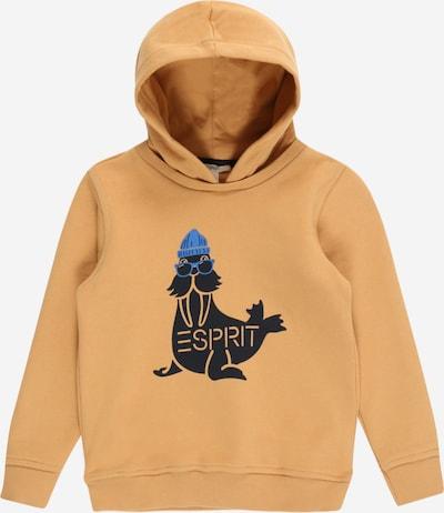 ESPRIT KIDS Sweatshirt in blau / karamell / schwarz, Produktansicht