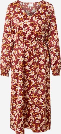 VILA Obleka 'Ladee' | zlato-rumena / vinsko rdeča / bela barva, Prikaz izdelka