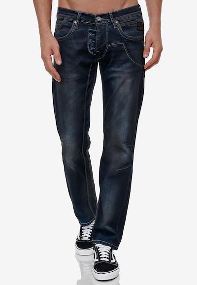 Rusty Neal Jeans 'RUBEN 47' in dunkelblau, Modelansicht