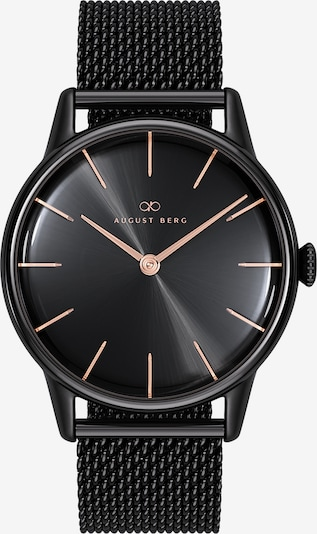 August Berg Uhr 'Serenity Noir Black Black Mesh 32mm' in schwarz, Produktansicht