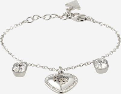 GUESS Bracelet 'HEART' en argent / blanc, Vue avec produit