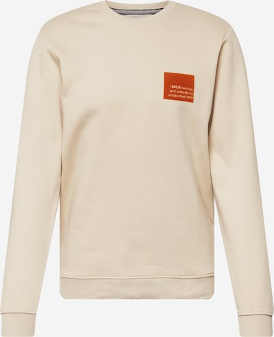 !Solid Sweatshirt in hellbeige / dunkelorange, Produktansicht