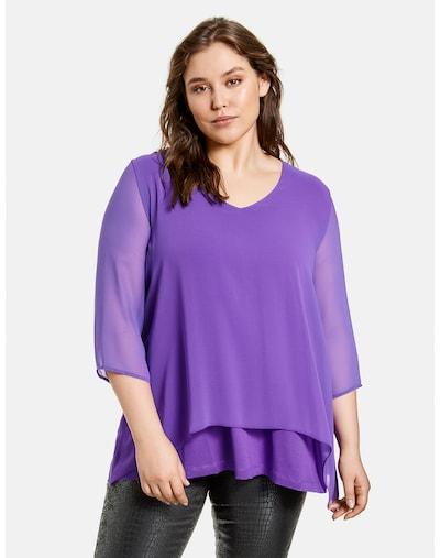 SAMOON Blusenshirt in lila, Modelansicht