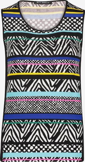 Betty Barclay Streifen-Top mit Schmucksteinen in blau / schwarz, Produktansicht
