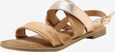 INUOVO Sandalen in hellbraun / gold, Produktansicht