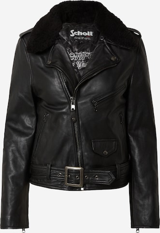 Schott NYC Overgangsjakke i svart