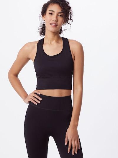 ABOUT YOU Športni top 'Diana'   črna barva: Frontalni pogled