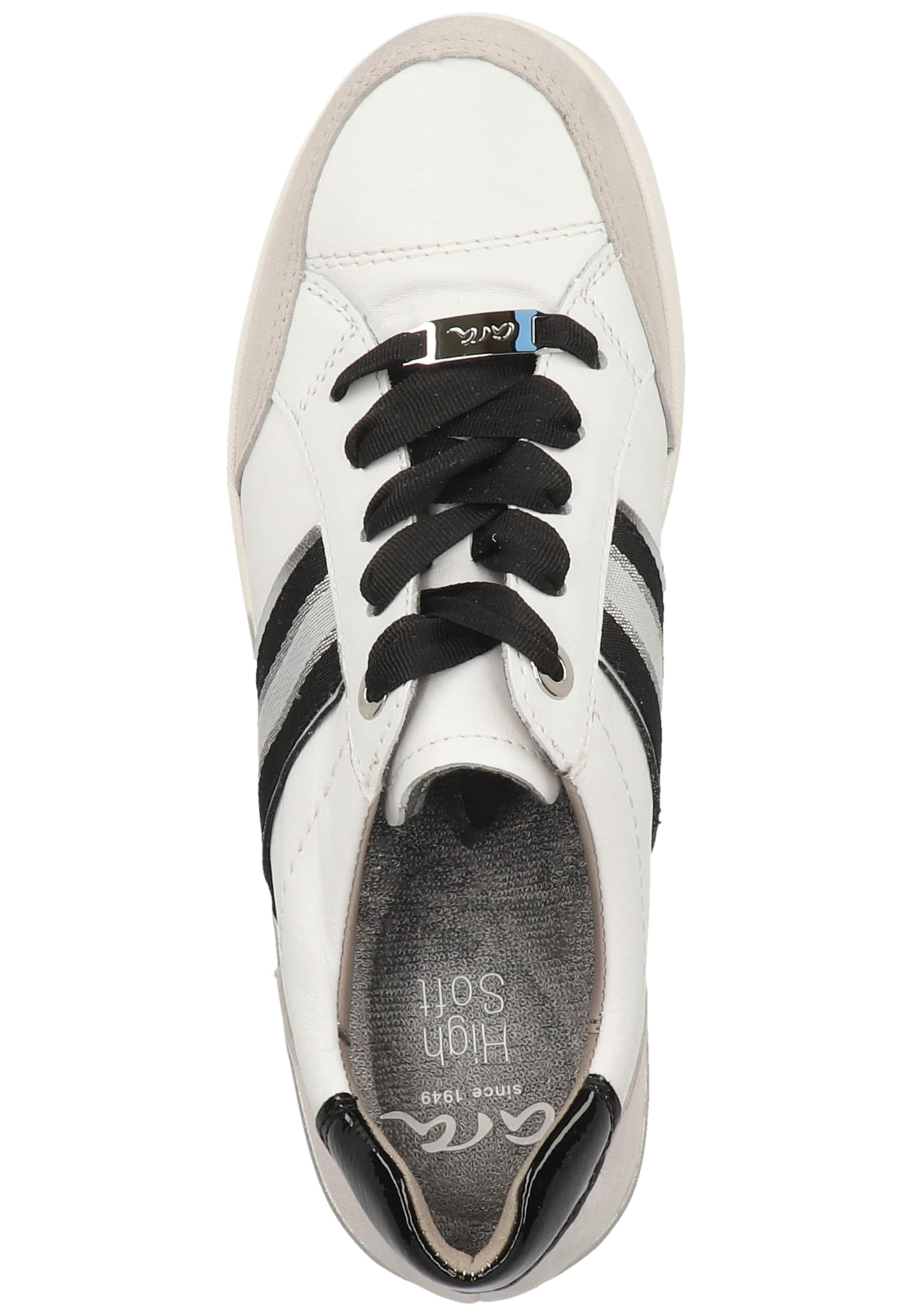 ARA Sneaker in grau / schwarz / weiß