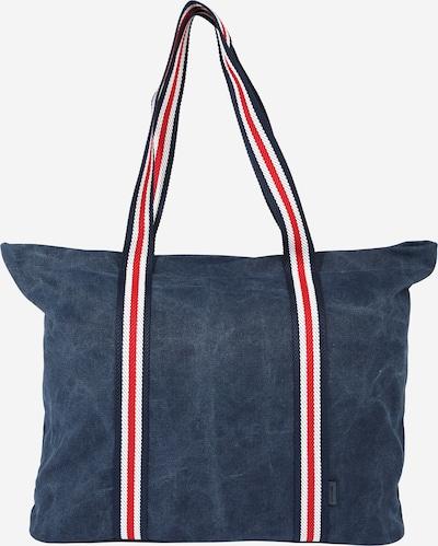 TOM TAILOR Nákupní taška 'Mia' - modrá džínovina / červená / bílá, Produkt