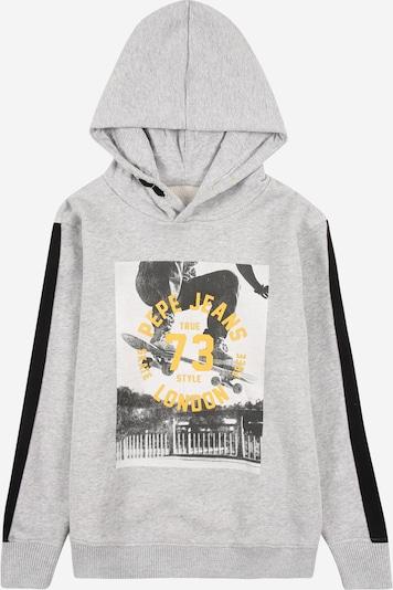 Pepe Jeans Sweatshirt 'GEOFF' in gelb / basaltgrau / graumeliert / schwarz, Produktansicht