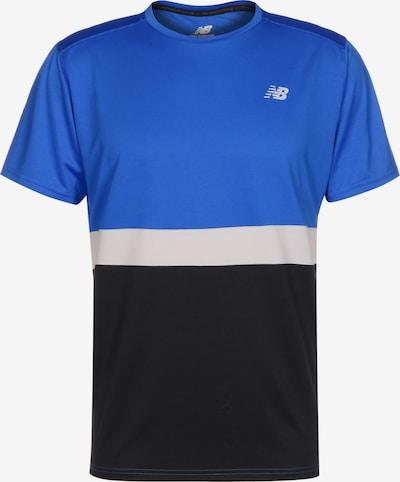 new balance T-Shirt fonctionnel en bleu / noir / blanc, Vue avec produit