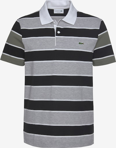 LACOSTE Poloshirt in navy / hellgrau / khaki / weiß, Produktansicht