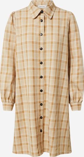 modström Robe-chemise 'Giana' en beige / blanc, Vue avec produit