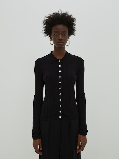EDITED Kardigán 'Holly' - čierna, Model/-ka
