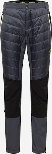 CMP Pantalon outdoor en gris foncé / noir, Vue avec produit
