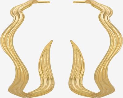Polar Jewelry Oorbellen 'The World Hoops' in de kleur Goud, Productweergave