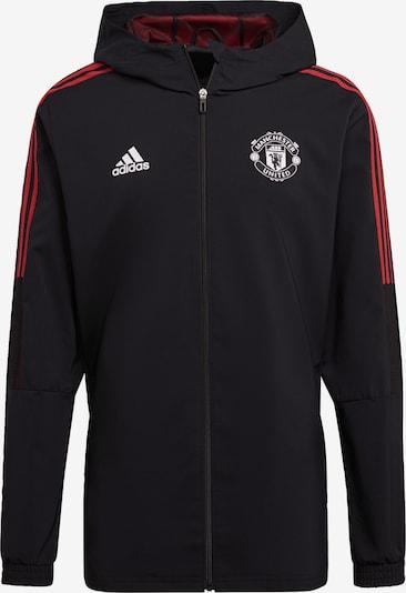 ADIDAS PERFORMANCE Sportjacke 'Manchester United Tiro Präsentationsjacke' in blutrot / schwarz / weiß, Produktansicht
